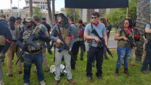Left-wing gun lovers demonstrate at Arizona Capitol