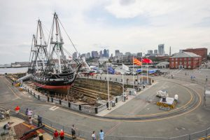 Recently restored USS Constitution returns to harbor (VIDEO)