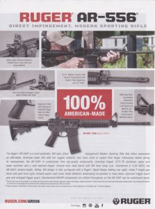 Ruger AR-556 is 100% American Made