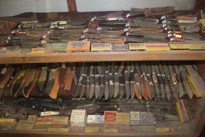The Old Vintage Leather Handled Knife