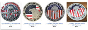 Pro-Gun And Freedom Badges