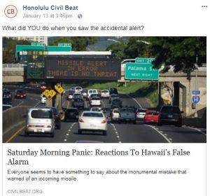 Hawaii Missile Alert Screw-Up Highlights Dangerous Anti-Gun Culture Planning Flaws