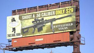 Battlefield Vegas Billboard Vandalized