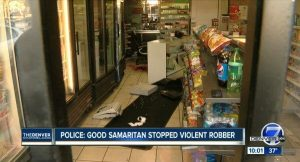 Armed Samaritan Shoots Robber who Wounded Woman Store Owner