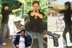 Brit tabloids go nuts for pics of Meghan Markle Glock-ing it up