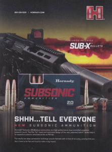 New Subsonic Ammunition