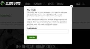 Bump stock maker Slide Fire to stop taking orders, shutter website