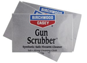 Birchwood Casey divvies up Gun Scrubber Wipes for easy cleaning