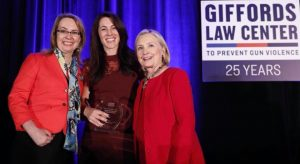 Giffords presents 'Courageous Leadership Award' to Hillary Clinton