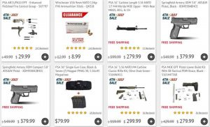 4th of July 2018 Gun and Ammo Sales
