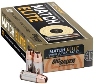 Sig Sauer adds Match Elite pistol competition ammo to 9mm lineup