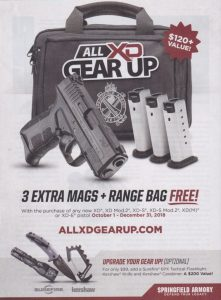 FREE Mags & Range Bag With XD Purchase
