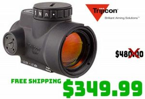 Daily Gun Deals: Trijicon MRO 1X25Mm 2.0MOA Adjustable Red Dot Optic $349.99 FREE S&H