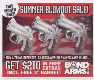 Bond Arms Summer Savings