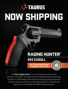 NRA's Hunting Handgun of the Year: Taurus Raging Hunter