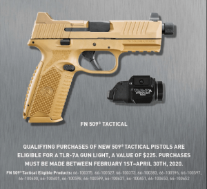 FN Promo: Free Gun Light Or $75 Cash Rebate