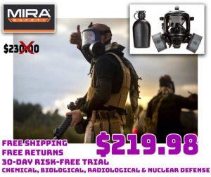MIRA Safety CM6M CBRN Gas Mask Full-Face Coronavirus Protection $219.98 FREE S&H&R