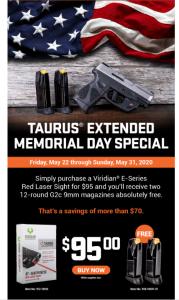 Taurus Memorial Day Special